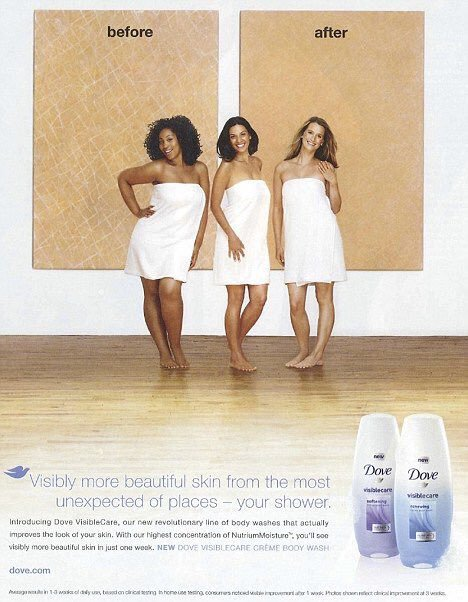 Dove Before - After Ad